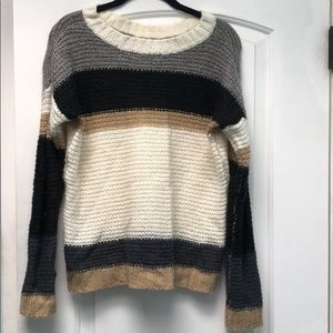 Forever 21 striped oversized sweater sz S